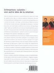 Entreprises-Salaries : Une Autre Idee De La Relation - 4ème de couverture - Format classique