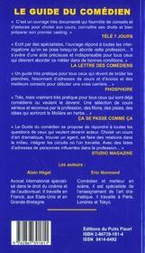 Guide du comédien (7e edition) - 4ème de couverture - Format classique