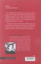 Anna ; une histoire française - 4ème de couverture - Format classique