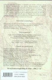 Revue franco-maghrébine de droit n.14 ; études tunisiennes - 4ème de couverture - Format classique