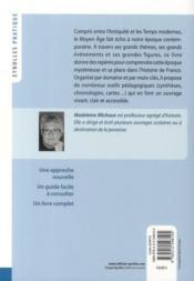 Histoire du Moyen-âge - 4ème de couverture - Format classique