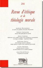 Revue D'Ethique Et De Theologie Morale N.244 - Couverture - Format classique