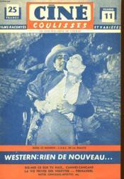Cine Coulisses N°11 - Deuxieme Annee - Western: Rien De Nouveau ... - Couverture - Format classique