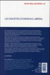 Les sociétés d'exercices libéral ; à jour des lois Macron ; santé et du décret relatif à la biologie médicale - 4ème de couverture - Format classique