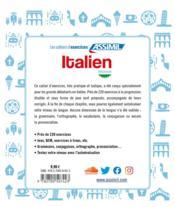Italien ; débutants - 4ème de couverture - Format classique