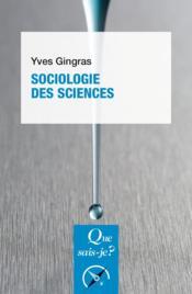 Sociologie des sciences - Couverture - Format classique