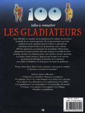 100 Infos A Connaitre ; Les Gladiateurs - 4ème de couverture - Format classique