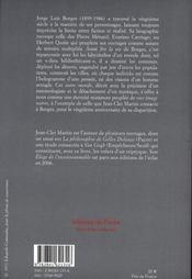 Borges ; une biographie de l'éternité - 4ème de couverture - Format classique