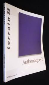 Terrain N.33 ; Authentique ? - Couverture - Format classique