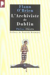 L'archiviste de Dublin - Intérieur - Format classique
