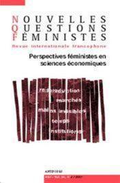 REVUE NOUVELLES QUESTIONS FEMINISTES N.26/2 ; perspectives féministes en sciences économiques - Couverture - Format classique