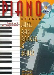 Piano style ; jazz, rag, boogie et blues - Couverture - Format classique
