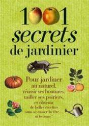 1001 secrets de jardinier - Couverture - Format classique
