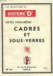 Faites Vous-Meme Cadres Et Sous-Verres - Couverture - Format classique