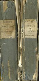 Commentaire Sur Le Code Penal En 2 Tomes - Couverture - Format classique