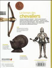 Le temps des chevaliers - 4ème de couverture - Format classique