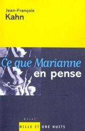 Ce Que Marianne En Pense - Intérieur - Format classique