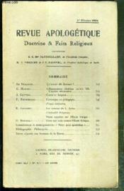 REVUE D'APOLOGETIQUE - DOCTRINE & FAIT RELIGIEUX - N° 474 - 1er FEVRIER 1926 - Qu'aurait dit Bossuet ? par Le Veilleur - l'Humanisme chretien (suite) - VII. l'ascese necessaire par E. Masure - Clercs et laiques par J. Guitton - chronique de pedagogie... - Couverture - Format classique