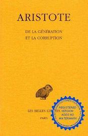 De la génération et la corruption - Intérieur - Format classique