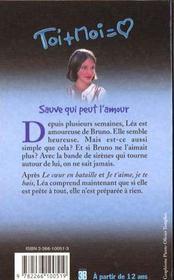 Trilogie De Lea T.3 ; Sauve Qui Peut L'Amour - 4ème de couverture - Format classique