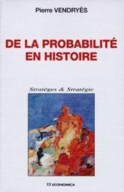 De la probabilite en histoire - Couverture - Format classique