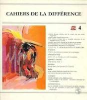 Cahiers De La Differences N 4 - Couverture - Format classique