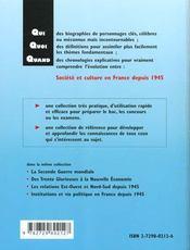 Societe Et Culture En France Depuis 1945 - 4ème de couverture - Format classique