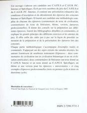 Capes Interne Capes Specifique Mode D'Emploi Capes/Agregation Anglais - 4ème de couverture - Format classique