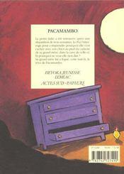Pacamambo - 4ème de couverture - Format classique