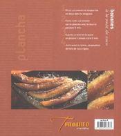 Cuisine a la plancha - 4ème de couverture - Format classique