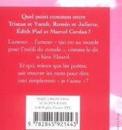 Toi, mon amour - 4ème de couverture - Format classique