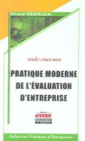 Pratique moderne de l'evaluation d'entreprise vade mecum - Intérieur - Format classique
