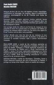L'Eloge Du Masque - 4ème de couverture - Format classique