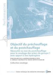 Objectif du prechauffage et du postchauffage ; necessite ou non du postchauffage ; performances resultat - Couverture - Format classique