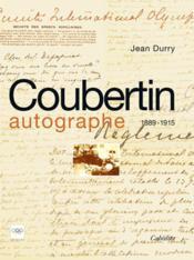 Coubertin Autographe - Couverture - Format classique