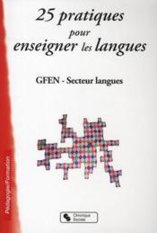 25 pratiques pour enseigner les langues - Couverture - Format classique