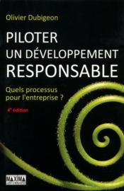 Piloter un développement responsable (4e édition) - Couverture - Format classique