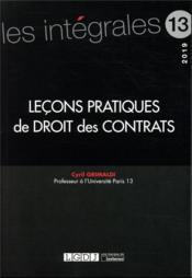 Leçons pratiques de droit des contrats - Couverture - Format classique