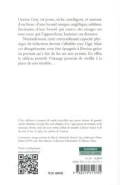 Le portrait de Dorian Gray - 4ème de couverture - Format classique