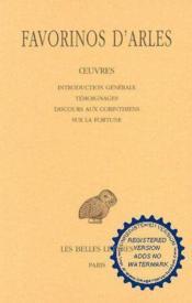 Oeuvres t.1 ; introduction générale ; témoignages ; discours aux corinthiens ; sur la fortune - Couverture - Format classique