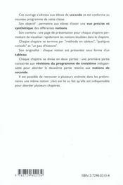 Resumaths Seconde Tout Le Programme De Seconde En Tableaux Et Les Indispensables De Troisieme - 4ème de couverture - Format classique