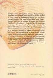 Des paléontologues de A à Z - 4ème de couverture - Format classique