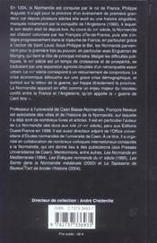 La Normandie royale, XIII-XIV siècle - 4ème de couverture - Format classique