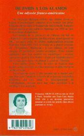 De Paris A Los Alamos: Une Odyssee Franco-Americaine - 4ème de couverture - Format classique