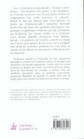 Etudes Postcoloniales Et Litterature - 4ème de couverture - Format classique