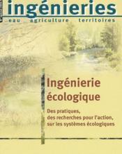 Ingenierie ecologique. des recherches pour l'action, sur les systemes ecologique - Couverture - Format classique