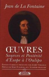 Oeuvres ; sources et postérité d'Esope à Oulipo - Couverture - Format classique