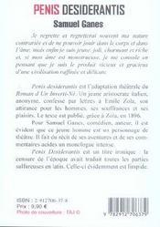 Penis Desiderantis - 4ème de couverture - Format classique