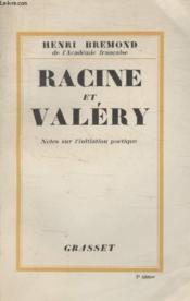 Racine Et Valery. - Couverture - Format classique