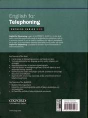 English for telephoning - 4ème de couverture - Format classique